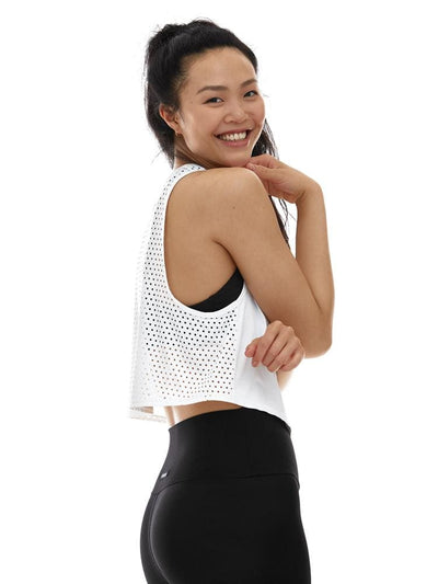 Laser Cut Tank in White