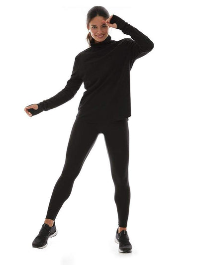 Long Sleeve Turtleneck in Black - TRICOTS TOPS