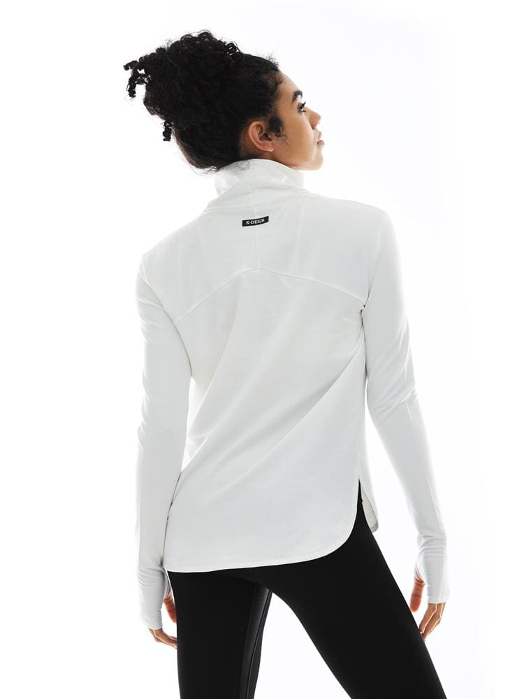 Long Sleeve Turtleneck in Ecru