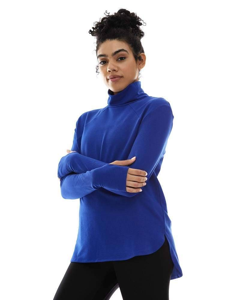 Long Sleeve Turtleneck in Royal - TRICOTS TOPS