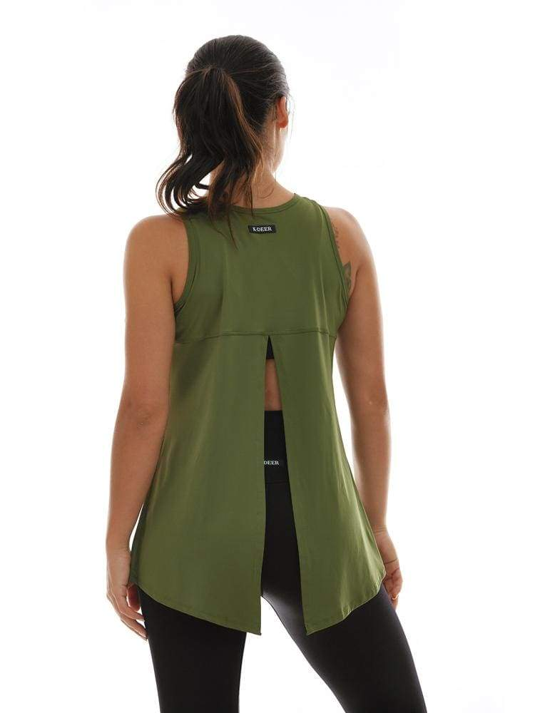 Microflex Hero Tank in Olive - TRICOTS TOPS