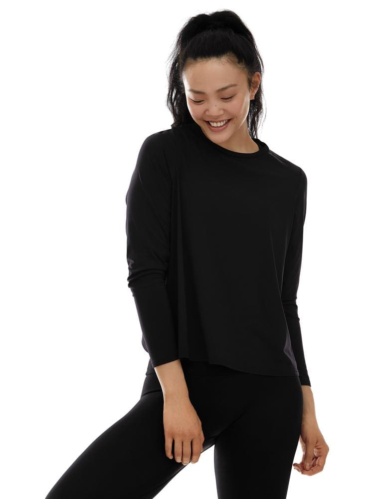 Microflex Long Sleeve Twist Back in Black