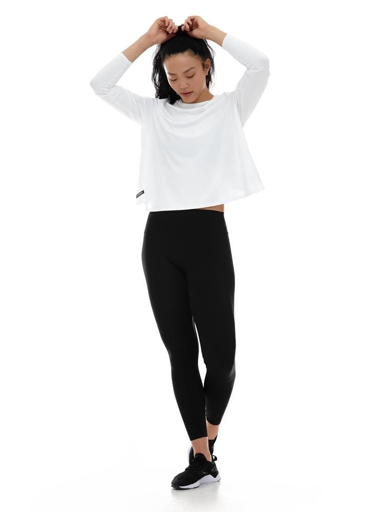 Microflex Long Sleeve Twist Back in White