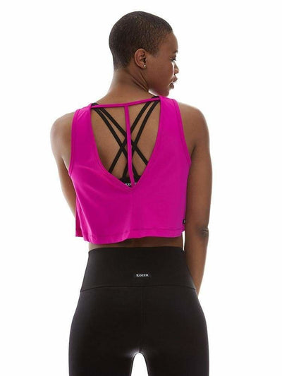 Microflex T-Back Crop Top - TRICOTS TOPS