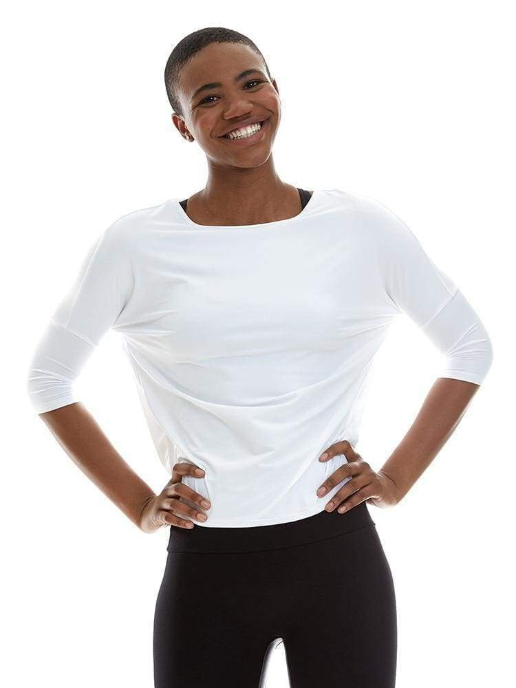 Microflex T-Back Pullover in White