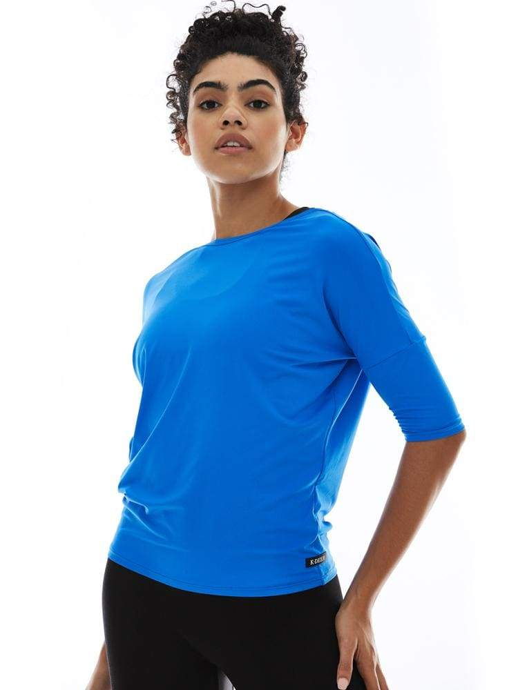 Microflex V-Back Pullover in Peri - TRICOTS TOPS