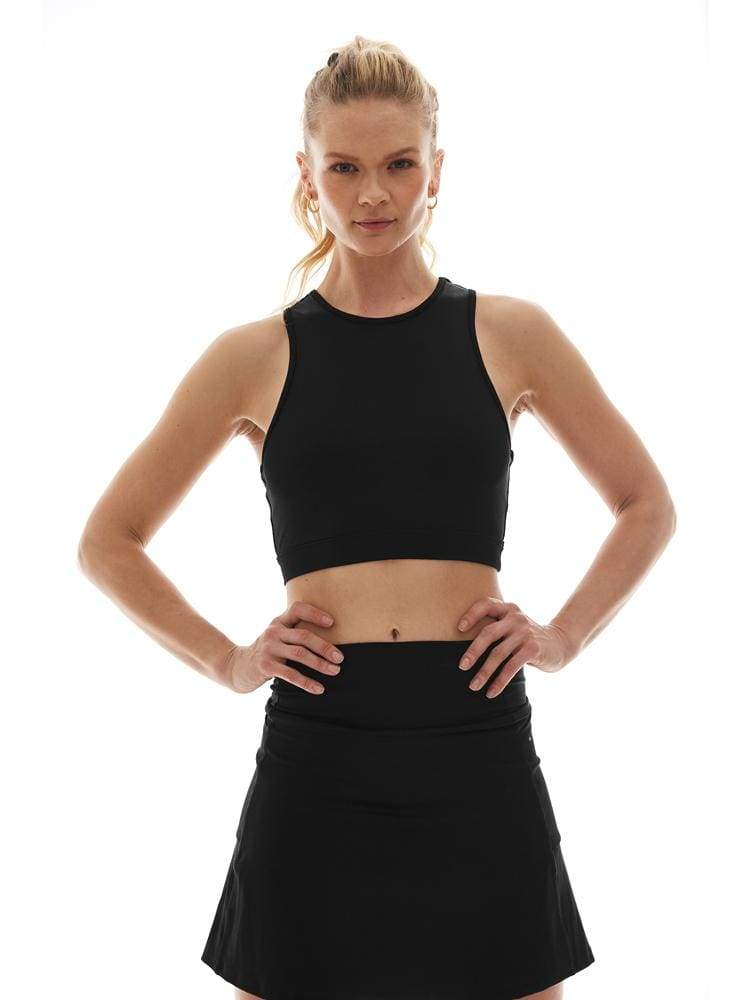 Pocket Crop Top in Black