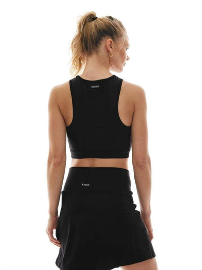 Pocket Crop Top in Black - CROP TOP