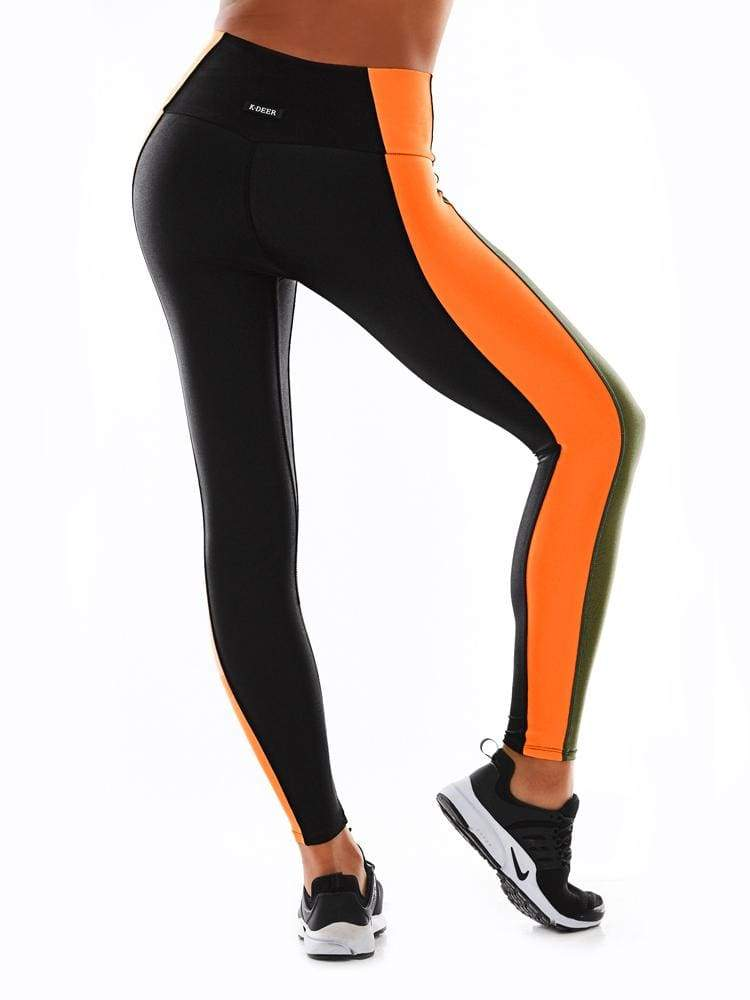 Polished HIIT 7/8 Sneaker Length in Hot Orange - SNEAKER LENGTH