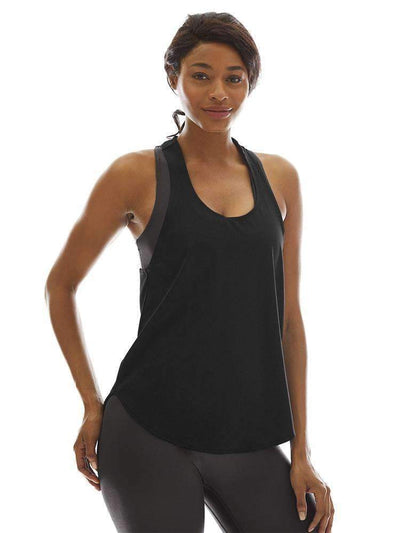 Relaxed Tank in Black - TANK TOP