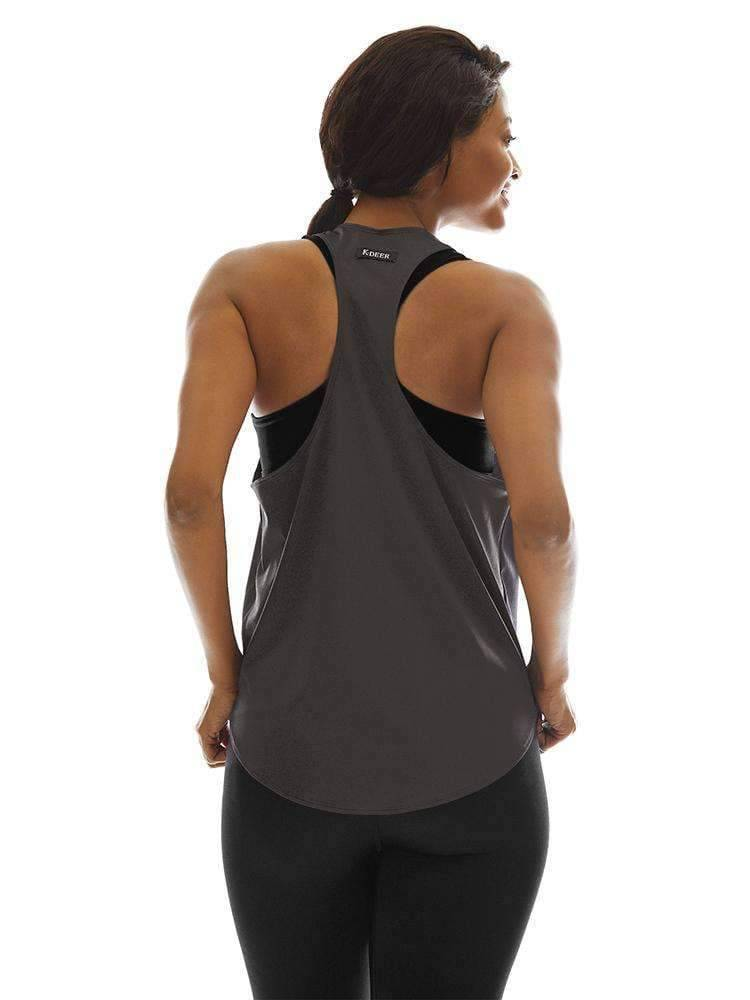 Relaxed Tank in Charcoal