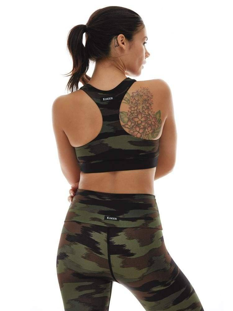 Reversible Racerback Bra in Peace Out/Black