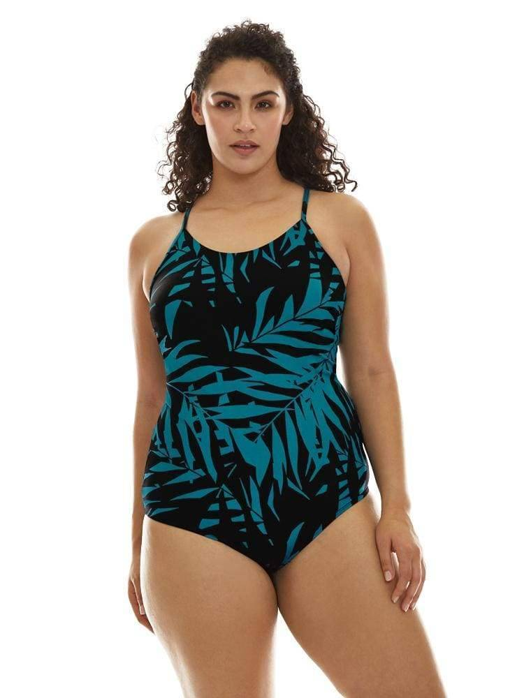 Scoop Back One Piece Swimsuit in Laguna