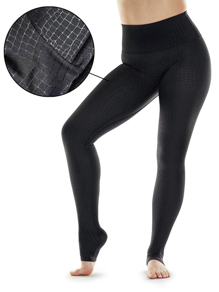 Stamped Croc Legging in Black