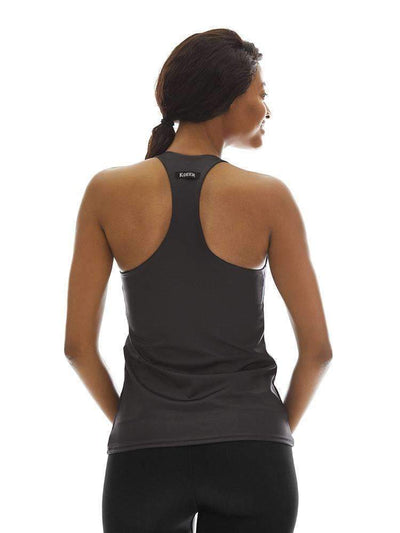 Tank Top with Shelf in Charcoal - Tank Top