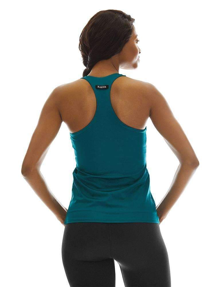 Tank Top with Shelf in Peacock