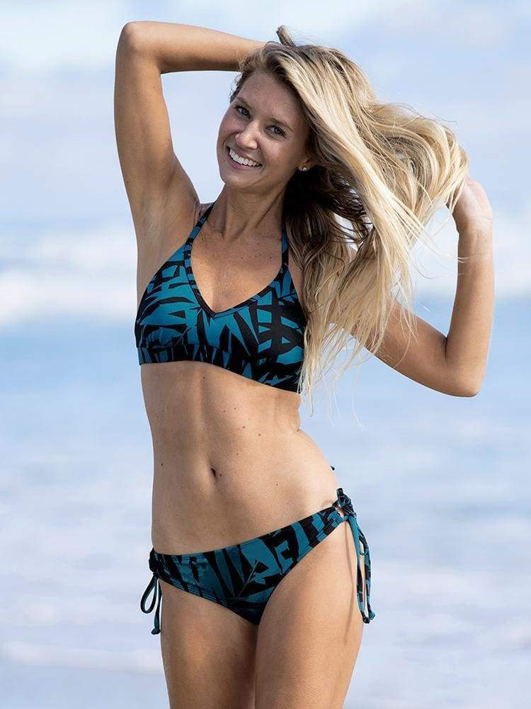 Tied Up Bikini Top in Laguna - CROP TOP