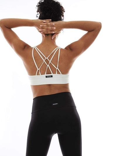 Triple Loop Sports Bra in Ecru - BRA TOP