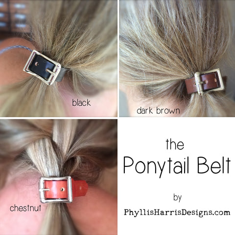 https://phyllisharrisdesigns.com/products/leather-ponytail-holder-boho-chic-leather-hair-accessory-ponytail-belt
