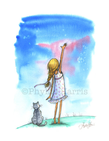 Reach for the Stars - Girl's wall decor - Inspirational Wall Art