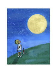 Little Boy And The Man In The Moon - Boy's Wall Art - As seen in Vanity Fair Magazine