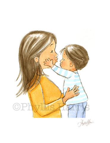 The Love of a Mother and Her Son - Wall Art - Love between a son and mother