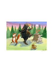 Dancing In The Woods - Wall Art