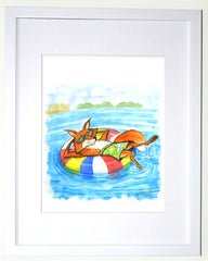 Summer Fox Wall Art - Ocean themed art