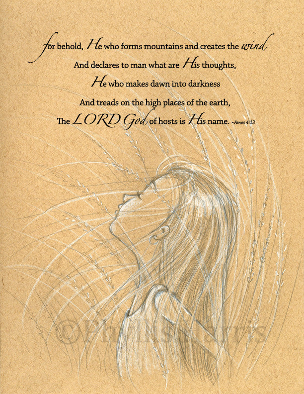 Wind and the Wheat Art - Inspirational Wall Art Available with or with out text - Christian Art