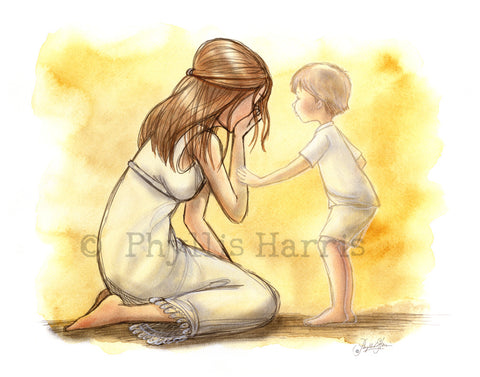 Grieving mother  - Inspirational wall art - Loss of a child