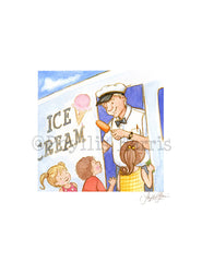 Ice Cream Truck - Popsicle Man - Wall Art