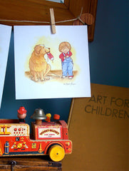 Everyone needs a little help sometimes - Little Boy's room decor