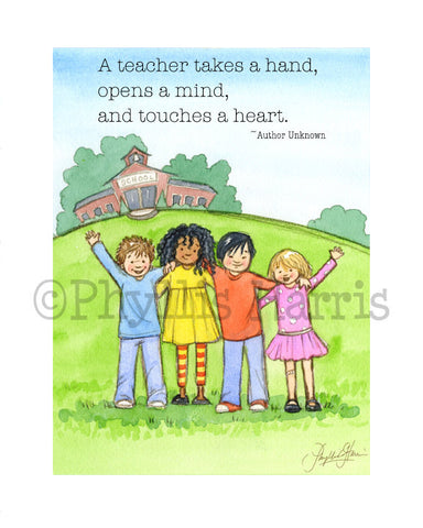 Teacher Appreciation Gift - Gift for Teachers - Personalized art print for your favorite teacher