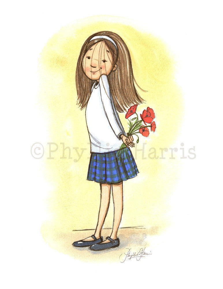 Poppy Girl - Children's Wall Art