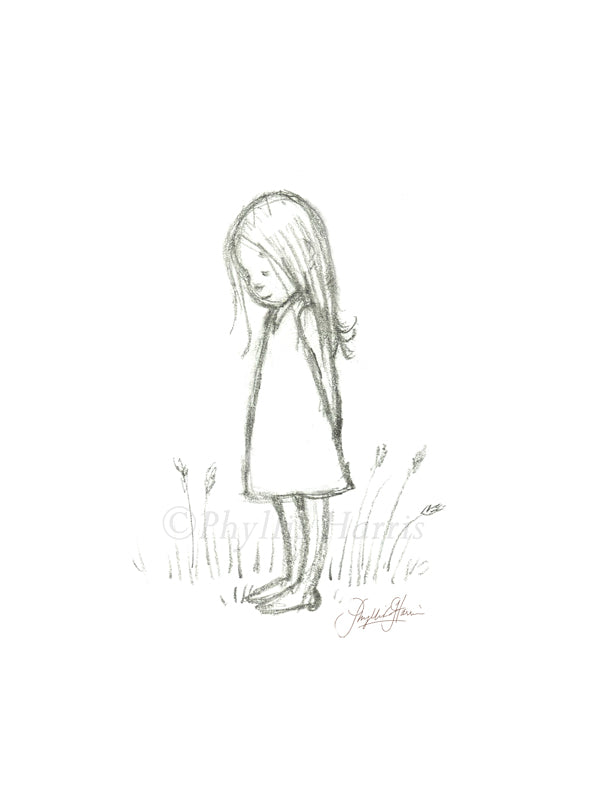 It's ok to be a little sad sometimes - original art sketch print