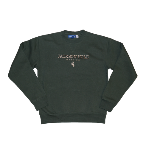 2 Color JH Bronco Embroidered Crew