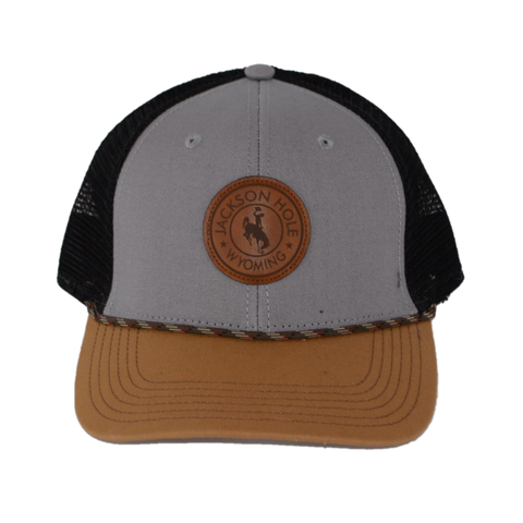 Bronco Circle Leather Patch Hat