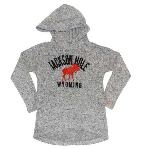 Girl Fuzzy Moose Hoody