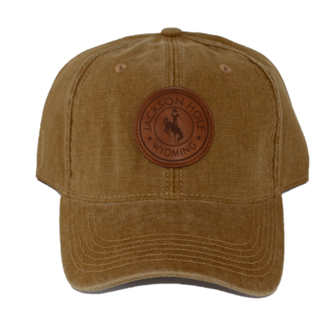 Circle Leather Bronco Patch Hat