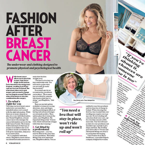 Fashion after breast cancer - the underwear and clothing designed to promote physical and psychological health