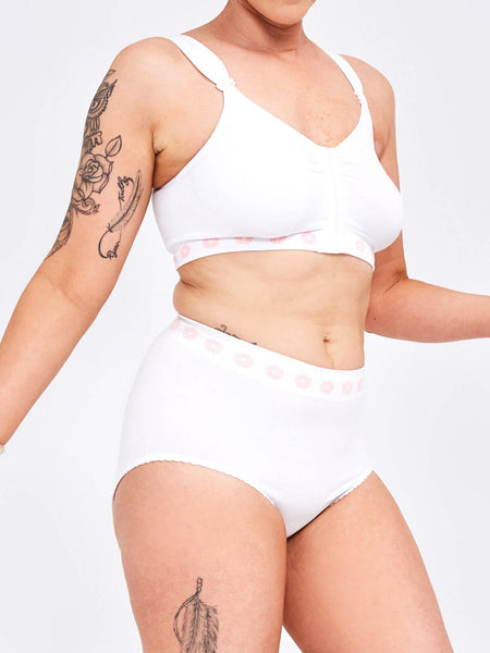 Petal Bamboo Medium Support Brief in White
