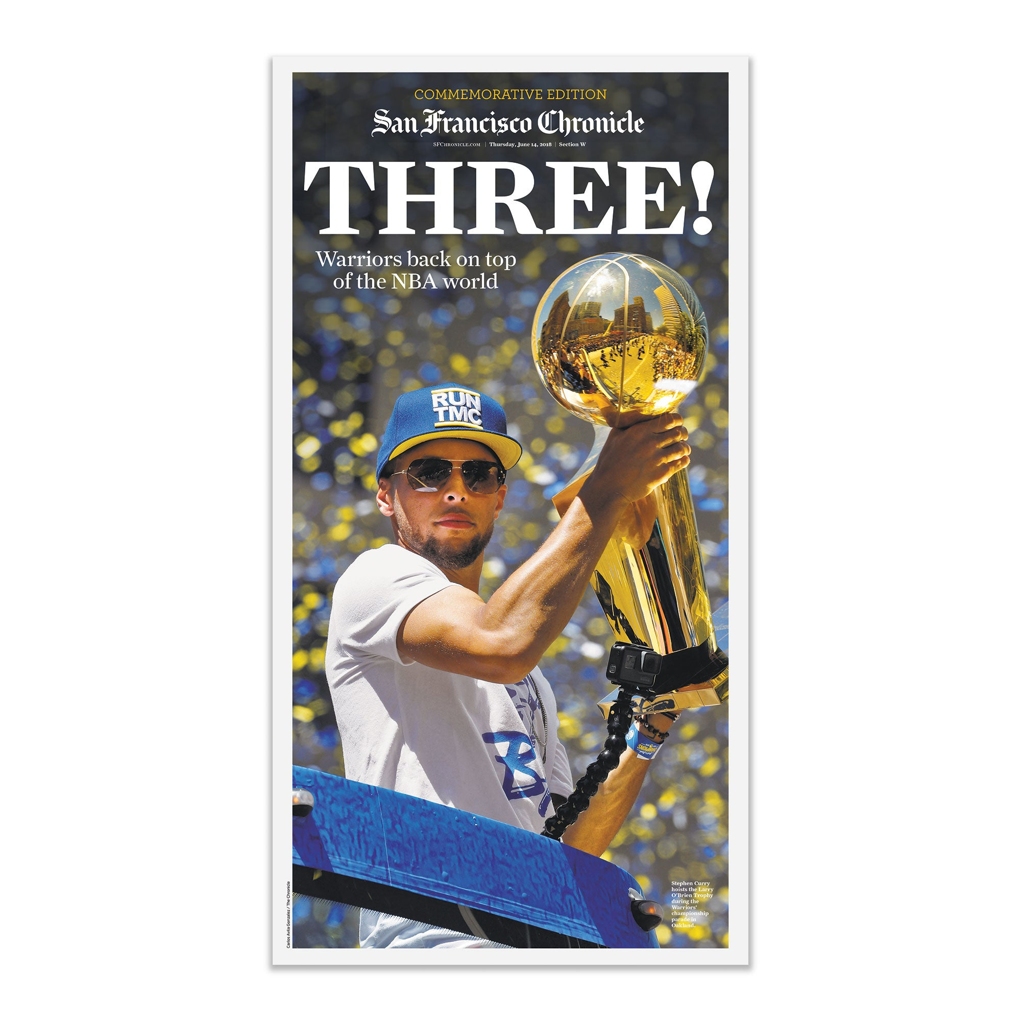 Warriors 2018 NBA Finals Game 3 - 6/7/18 sporting green cover - San Francisco Chronicle online store