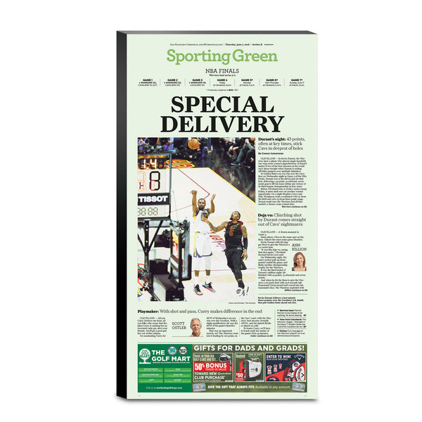 Warriors 2018 NBA Finals Game 3 - 6/7/18 sporting green cover