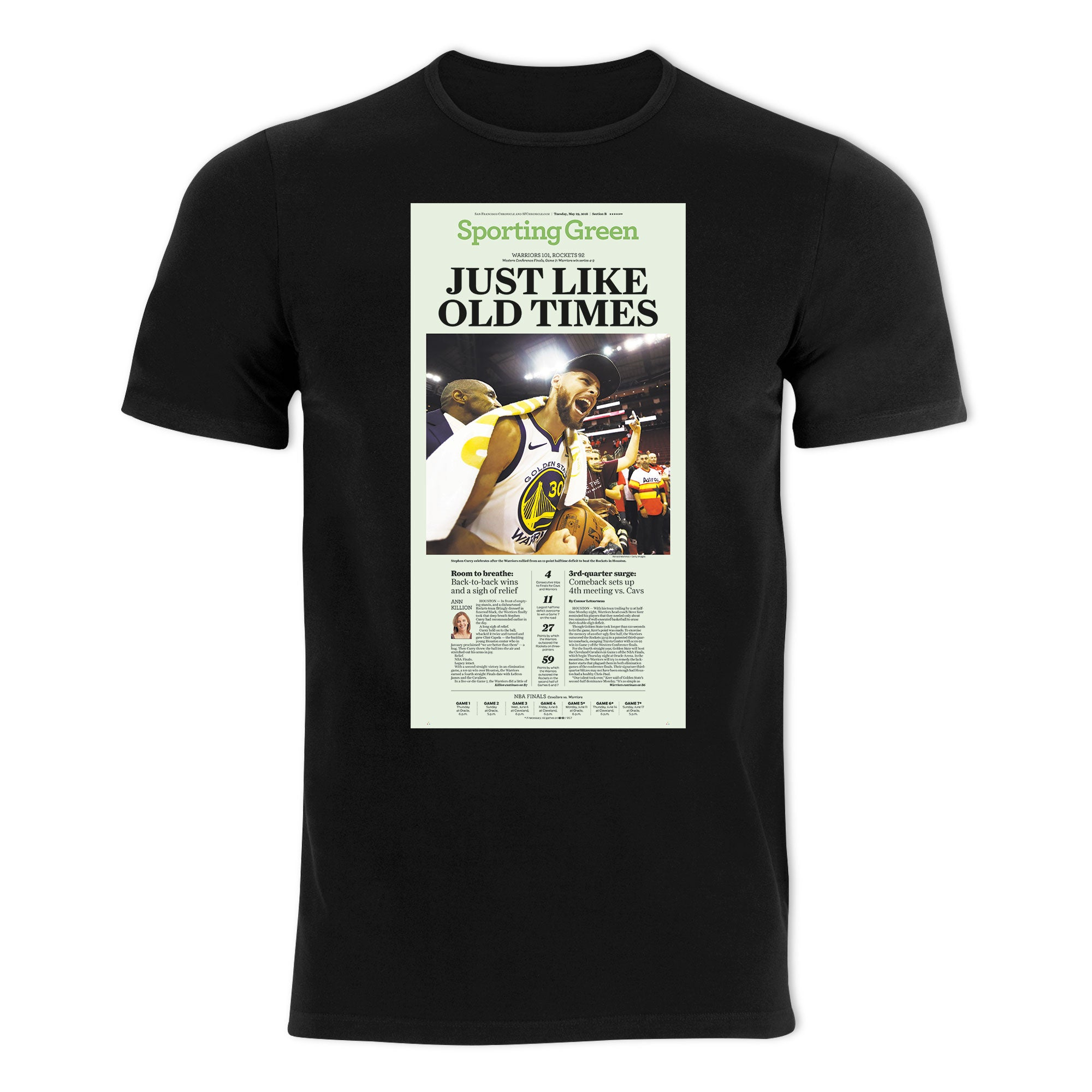 Warriors NBA 2018 Western Conference Finals Win T-shirt - San Francisco  Chronicle online store 255a3bc59