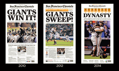 finest selection e174c 106a2 SF Giants World Series win cover display