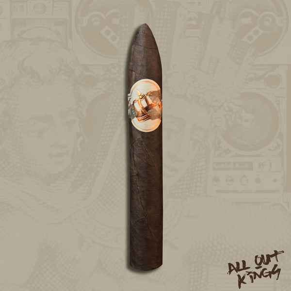 "All Out Kings ""The 4th Pose"" Torpedo (6 x 54) Cigar by Caldwell Cigars & Drew Estate"