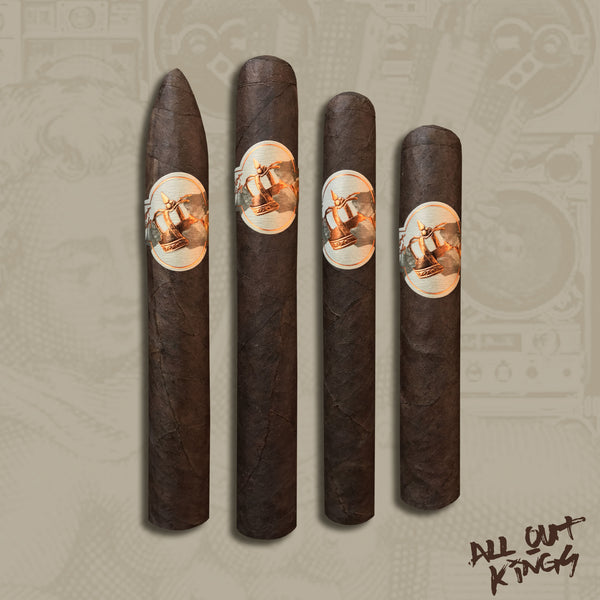 All Out Kings 4 Cigar Pack by Caldwell Cigars & Drew Estate