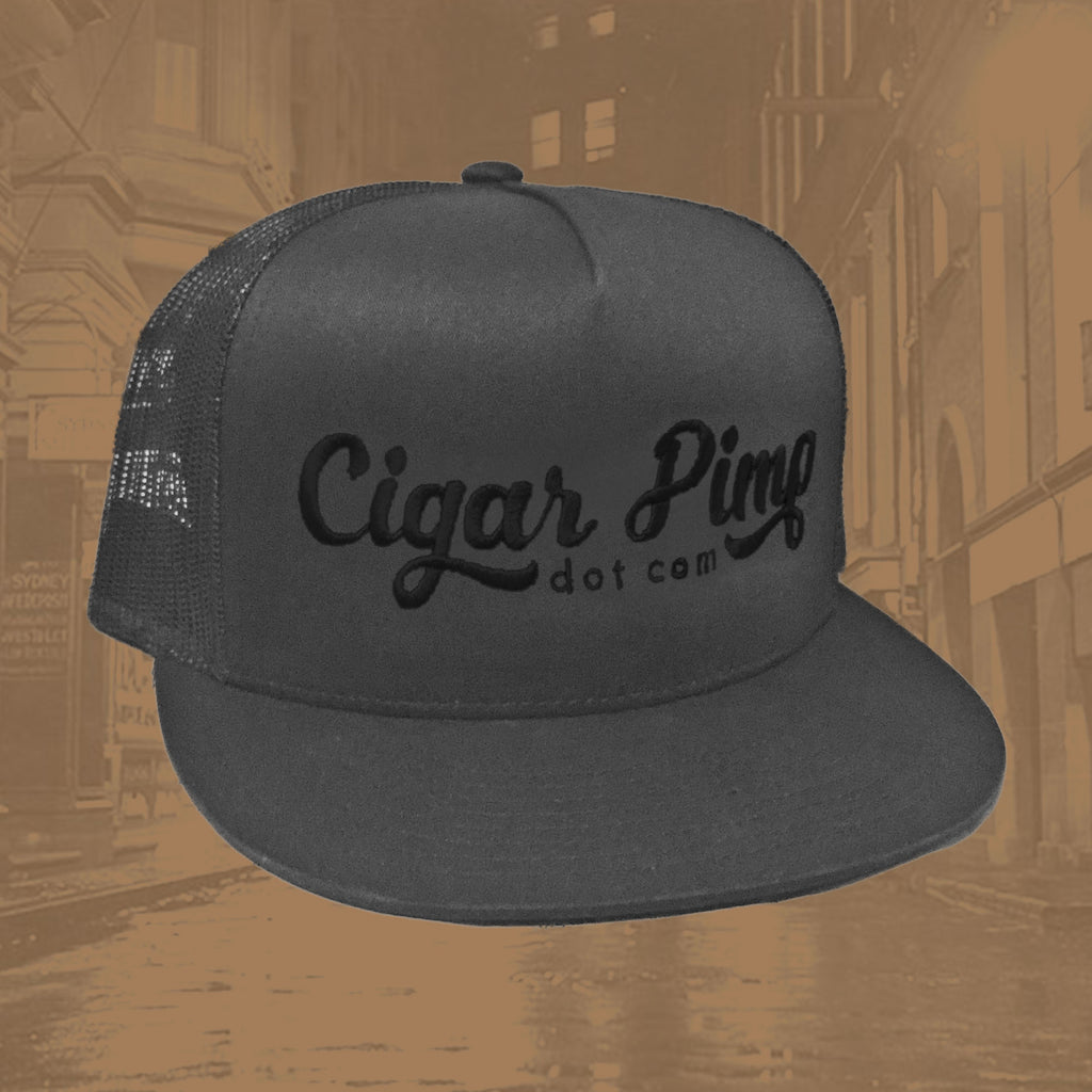 Cigar Pimp Grey Trucker Hat