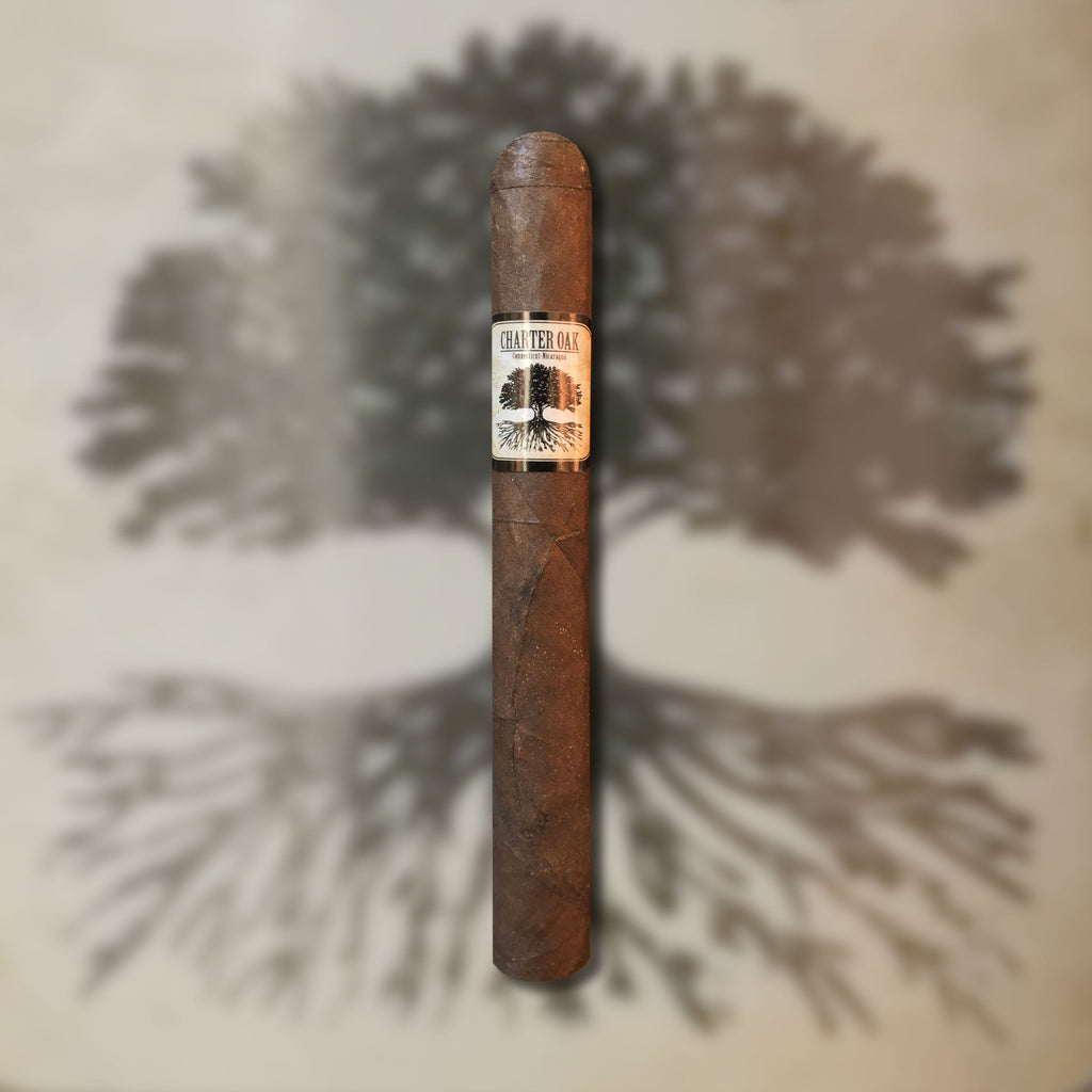 Charter Oak Maduro Petite Corona (5.25 x 42) Cigar by Foundation Cigar Co. (Made at AJ Fernandez Factory)