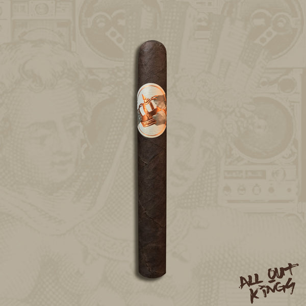 "All Out Kings ""Gimme Your Lunch Money"" Corona (5.75 x 46) Cigar by Caldwell Cigars & Drew Estate"